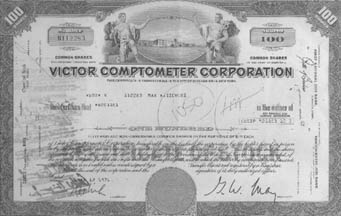 Victor-Comptometer Stock Share