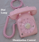 Western Electric Model 500 Desk phone with a dial lamp