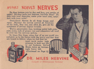 Miles laboratories Nervine Tonic