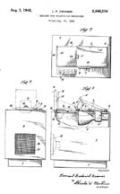 DuMont Alternative Projection TV Patent No. 2,446,214