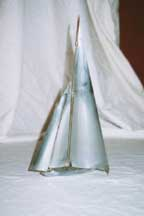 Chrome Sailboat Model