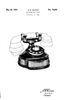 Western Electric Model Series E Phone  Design Patent D-78,605
