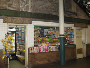Convenience store made of public rest rooms at Astor Place, NYC