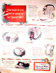 Betty Crocker Convertible Steam Iron ad back cover of the Saturday Evening Post, 12-05-53<BR>