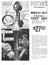 Ad for the BECO Model 1011 Telephone Lineman's Handset
