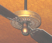 Ceiling Fan at Fanelli Cafe (SoHo, NYC) Closeup