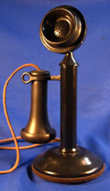 Western Electric Type 20 Candlestick Phone, Black Finish