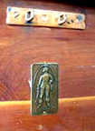 Cavalier Cedar Chest Brass Medalion from the 1930s and 1940s