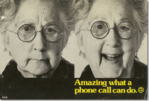 Telephone booth advertising card - what a phone call can do