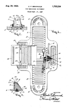 Brannock Device Patent No. 1,725,334