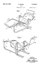 Marcel Breuer Molded Plywood Chaise Patent No 2,215,540