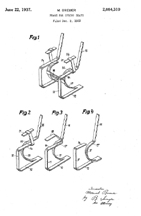 Marcel Breuer Spring Chair Patent No. 2,084,310