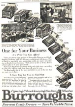 Advertisement for the Burroughs Adding Machine