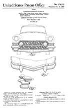 1956 Cadillac Front End Patent D - 179,125