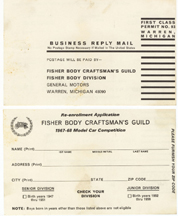 re-enrollment card for the Fisher Body Guild