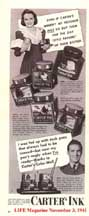 Carter Ink Ad LIFE Nov 3, 1941