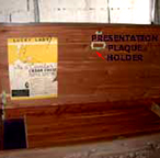 Cavalier Cedar Chest Presentation Plaque Holder