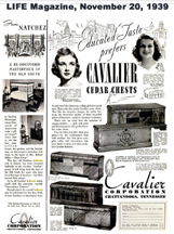 Cavalier Ad from LIFE magazine 11-20-1939