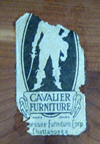 Cavalier Cedar Chest paper label from the 1920s
