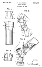 Schlumbohm Cocktail Shaker Patent No. 2,813,651
