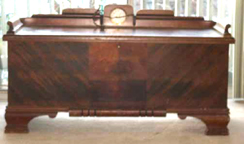 Chris Cavalier Cedar Chest with a clock