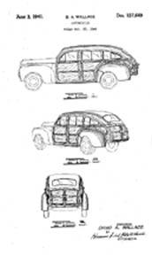 Chrysler Town and Country Patent (D127649)