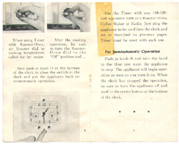 Westinghouse Roaster Clock-Timer manual