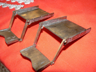 Napoleonic Coach in construction -- Retractable folding steps made by entrant