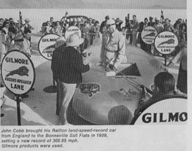 Gilmore Oil version of the Railton-Cobb Land Speed record Car