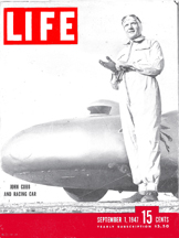 John Cobb on the cover of LIFE Magazine, September 1, 1947