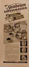 Sunbeam Coffeemaster Ad LIFE Nov 3, 1941