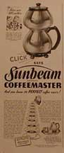 Sunbeam Coffeemaster Ad LIFE Oct 6, 1941