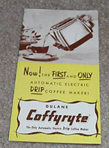 Coffyryte Advertising Flier - cover