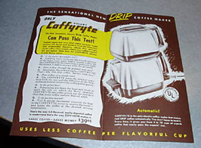 Coffyryte Advertising Flier - inside
