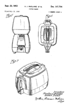 Design Patent 167,794 for the Coffyryte
