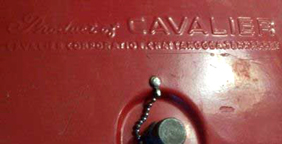 Cavalier Personal Coke Cooler Makers Mark