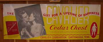 Cavalier Chest Label from the 1940s