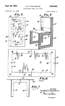 DeMartini Jigsaw Table Patent No. 2,653,652