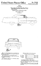 1956 Cadillac Body Design Patent D - 178,349