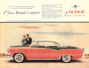 Ad for the 1955 Dodge lancer