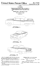 1955 Dodge Lancer Design Patent D - 177,875
