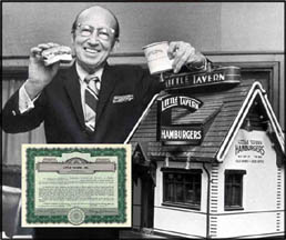 Harry Duncan and a Model of the Little Tavern