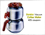 Buckeye Aluminum Duralux Coffee Maker as a premium for Raleigh Cigarettes