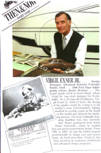 Virgil Exner jr. Grew Up to be a Car designer