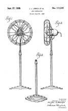 Floor Fan Design Patent D-111,542