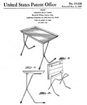 The TV Table Patent D-179830