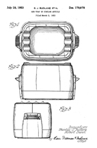 Design Patent 170,078 for an Ash Tray based on the Fryryte