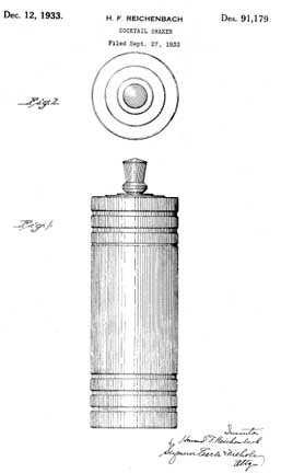 Gaiety Cocktail Shaker Patent D91179