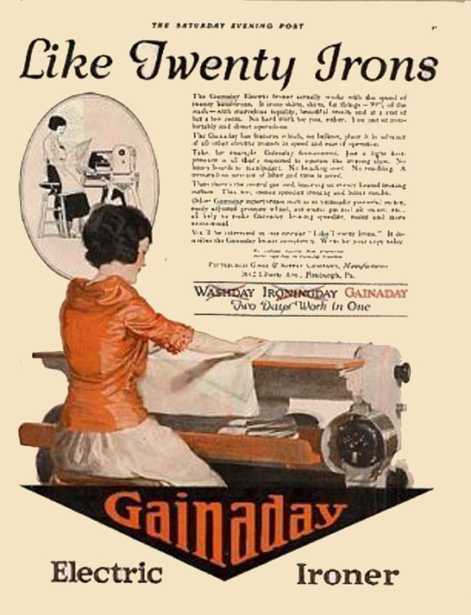Gainaday electric ironer 1921 los electrodom sticos - Electrodomesticos retro ...