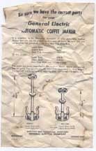 General Electric Model 129P8 instructions